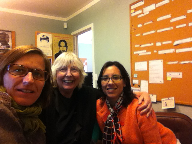 Charlotte Lagarde, Vivien Hillgrove and Carrie Lozano